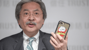 "John Tsang & ""Uncle Chips"" (Image source: hk01.com)"